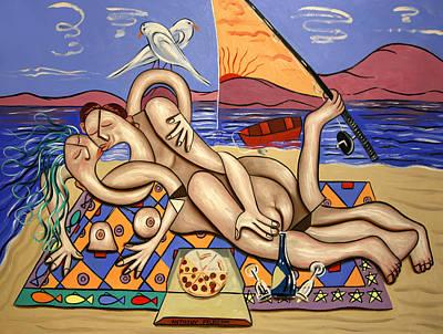Desert Island Digital Art - Love On A Deserted Island by Anthony Falbo