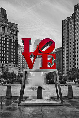 Love Photograph - Love Park II by Susan Candelario
