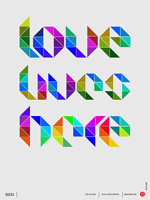 Schools Digital Art - Love Poster 4 by Naxart Studio