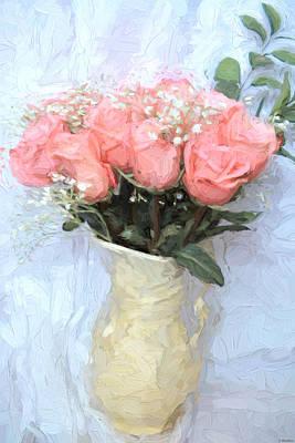 Jordan Painting - Love Silently - Flower Art by Jordan Blackstone