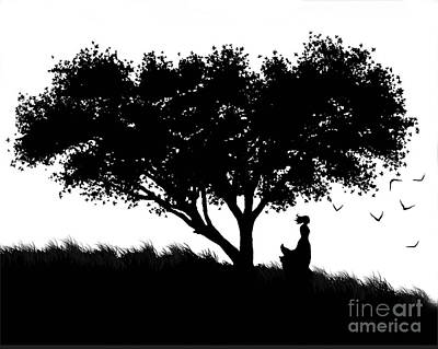 Love Stands Waiting Print by Robert Foster