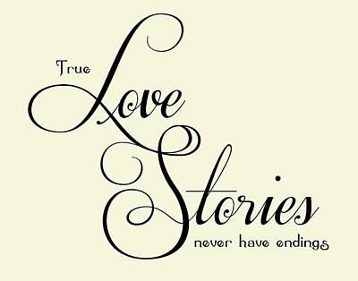 Love Stories Print by Jaime Friedman