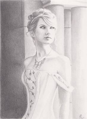 Taylor Swift Drawing - Love Story by Kendra Tharaldsen-Franklin