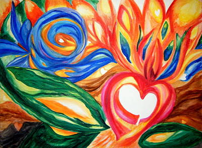 Openness Painting - Love Takes Flight by Sister Rebecca Shinas