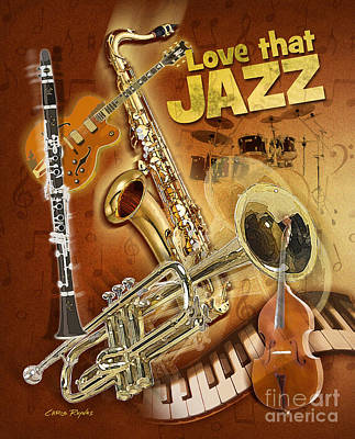 Ragtime Digital Art - Love That Jazz by Chris Rhynas