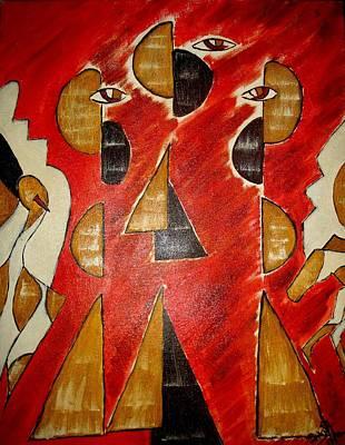 Including Painting - Love Triangle by Minakshi Sanyal Chakraborty