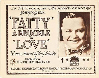 1910s Poster Art Photograph - Love, Us Lobbycard, Roscoe Fatty by Everett