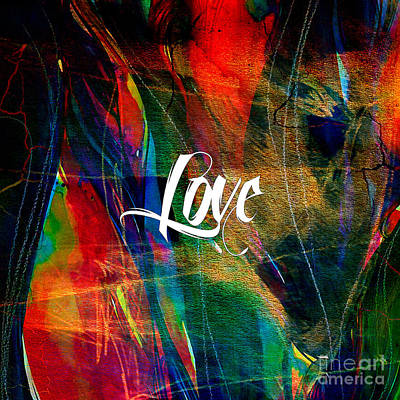 Inspirational Mixed Media - Love Wall Art by Marvin Blaine