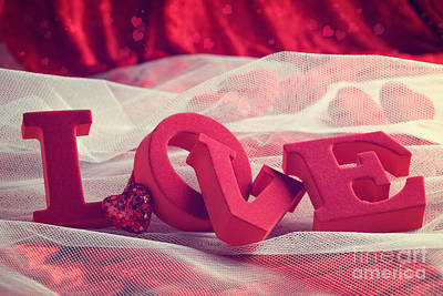 Love Laces Photograph - Love With Hearts by Amanda And Christopher Elwell