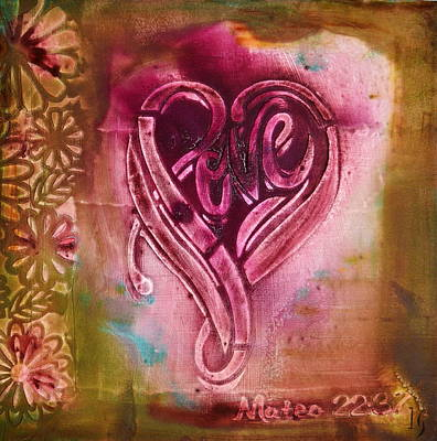 Christian Artwork Painting - Love Your Self by Ivan Guaderrama Art Gallery