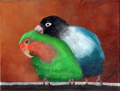 Lovebird Love Original by Deborah Naves