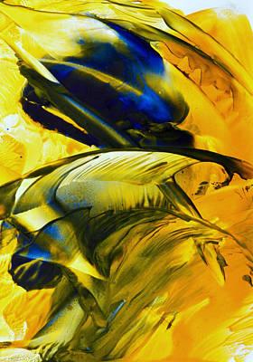 Hot Wax Painting - Lovebirds by Anne-Marie Coadebez