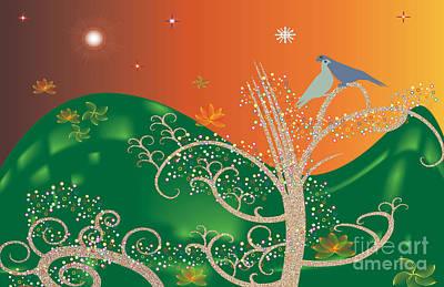 Lovebird Digital Art - Lovebirds by Kim Prowse