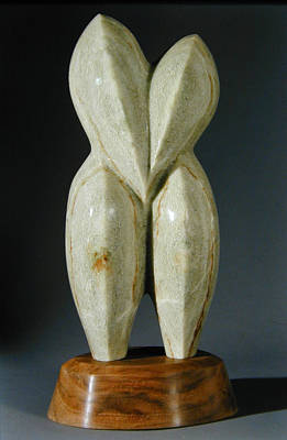 Sculpture - Lovebirds - Stone by Manuel Abascal