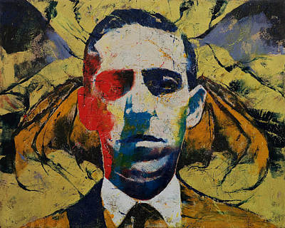 Bat Painting - Lovecraft by Michael Creese