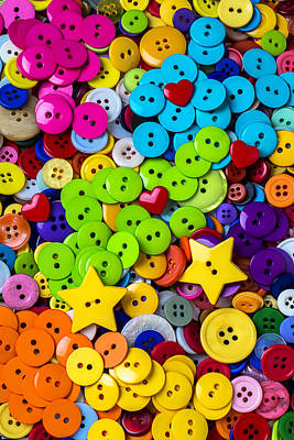 Lovely Buttons Print by Garry Gay