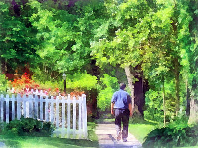 Lovely Day For A Walk Print by Susan Savad