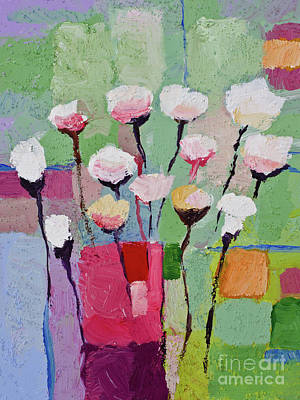 Flower Abstract Painting - Lovely Flowers by Lutz Baar