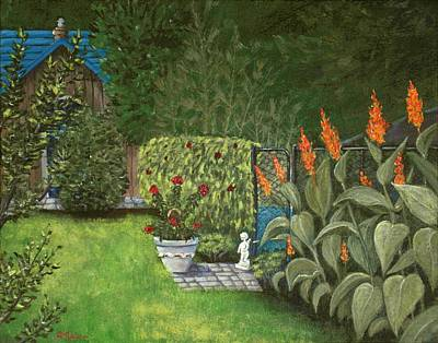 Garden Scene Drawing - Lovely Green by Anastasiya Malakhova