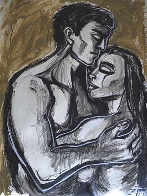 Lovers Painting - Lovers - Endless Love by Carmen Tyrrell