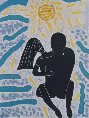 Gaga Painting - Lovers In Light by Elle Nicolai