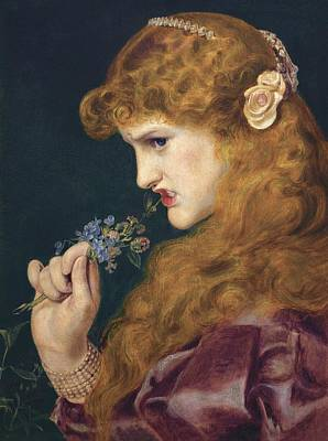 Frederick Sandys Painting - Loves Shadow by Frederick Sandys
