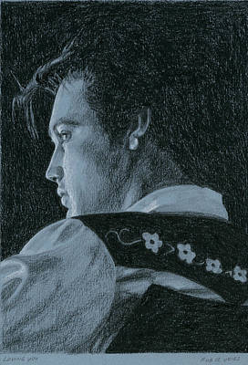 Elvis Presley Drawing - Loving You by Rob De Vries