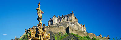 Edinburgh Castle Photograph - Low Angle View Of A Castle On A Hill by Panoramic Images