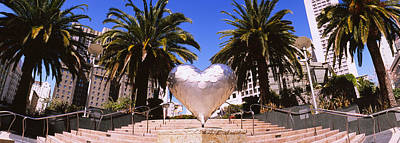 Union Square Photograph - Low Angle View Of A Heart Shape by Panoramic Images