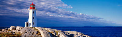 Atlantic Ocean Photograph - Low Angle View Of A Lighthouse, Peggys by Panoramic Images