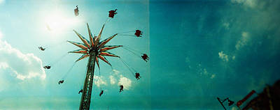Luna Park Photograph - Low Angle View Of A Park Ride, Brooklyn by Panoramic Images