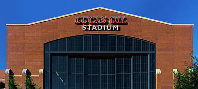 Indianapolis Photograph - Low Angle View Of A Stadium, Lucas Oil by Panoramic Images