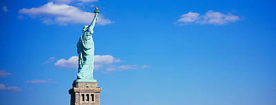 Statue Of Liberty Photograph - Low Angle View Of A Statue, Statue by Panoramic Images