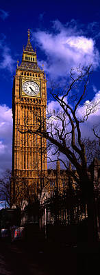 Part Of Photograph - Low Angle View Of Big Ben, London by Panoramic Images