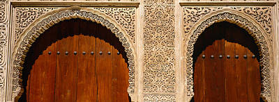 Carving Photograph - Low Angle View Of Carving On Arches by Panoramic Images