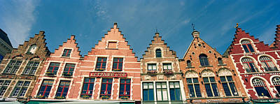 Belgium Photograph - Low Angle View Of Gabled Houses by Panoramic Images