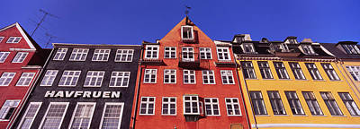 In A Row Photograph - Low Angle View Of Houses, Nyhavn by Panoramic Images