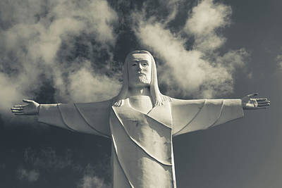 Eureka Springs Photograph - Low Angle View Of Statue Of Christ by Panoramic Images