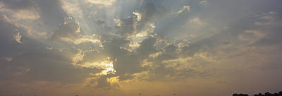 Emergence Photograph - Low Angle View Of Sun Shinning by Panoramic Images