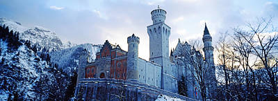 Low Angle View Of The Neuschwanstein Print by Panoramic Images