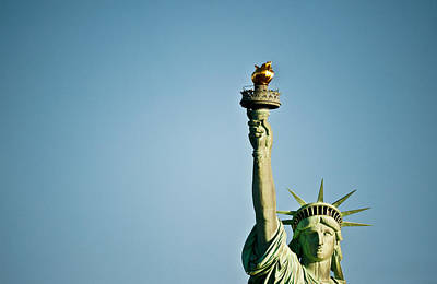 Statue Of Liberty Torch Photograph - Low Angle View Of The Statue Of by Panoramic Images