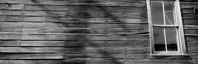Old Log Cabin Photograph - Low Angle View Of The Window Of A Log by Panoramic Images