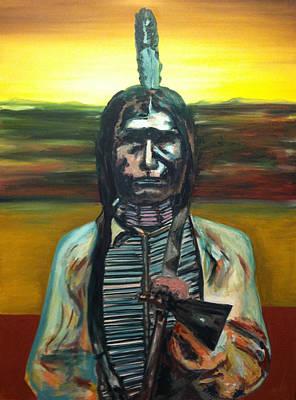 Low Dog Oglala Indian Original by Joe Ballone