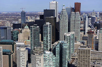 Photograph - Low Level Close Up Downtown Toronto by Bernard Dupuis
