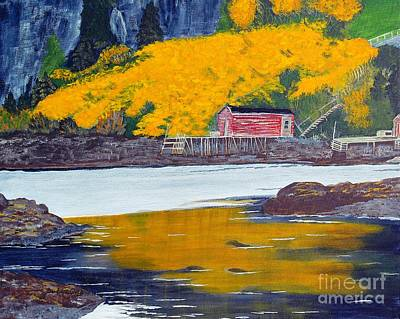 Low Tide And Autumn Splendor Original by Barbara Griffin