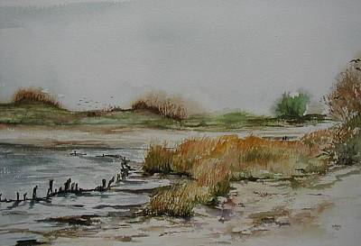 Rumson Painting - Low Tide At Sandy Hook by Jane Getty