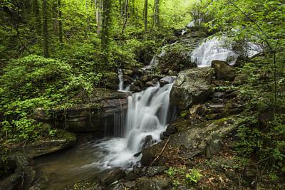 Lower Amicalola Falls Print by Debra and Dave Vanderlaan