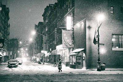 Lower East Side Photograph - Lower East Side - Winter Night - New York City  by Vivienne Gucwa