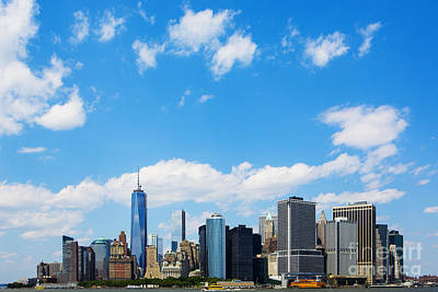 Riverfront Photograph - Lower Manhattan New York City by Diane Diederich