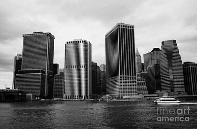 Lower Manhattan Shoreline And Skyline And Financial District Waterfront New York City Print by Joe Fox